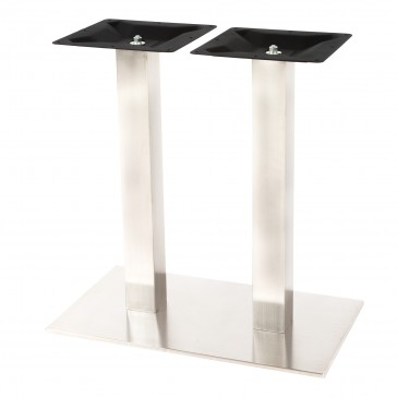 Stainless Steel Twin Dining Table Base