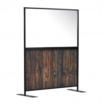 1500 AURA Screen – Clear Purespex / Akare rustic wood