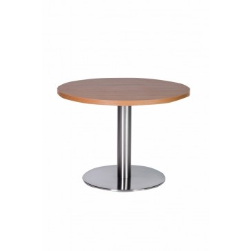 Stainless Steel Coffee Table Oak Top