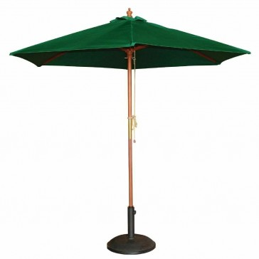 Square Parasol Green Double Pulley 2.5M