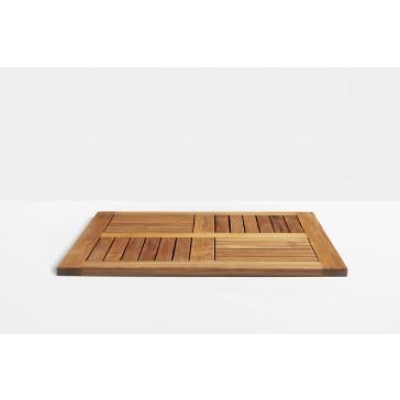 Solid teak table top 700 x 700 mm