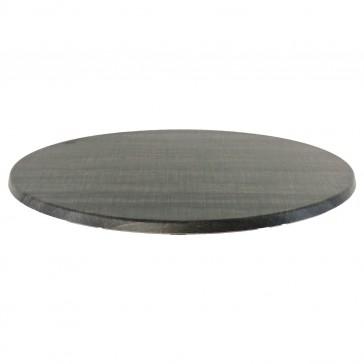 Werzalit Table Top Palissade Grey Round