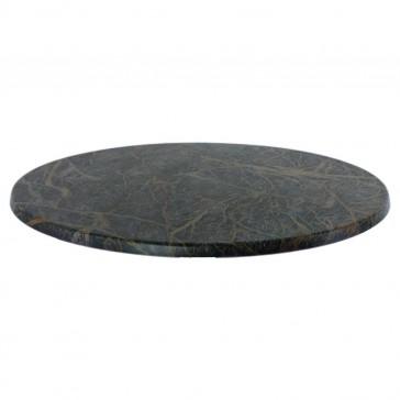 Werzalit Table Top Marble Sienna Round