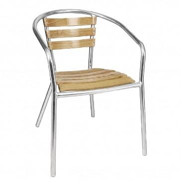Aluminium and Ash Chair