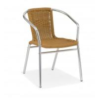 Outdoor  Aluminium Stacking Chair Honey