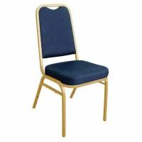 Banquet Chair Blue / Gold