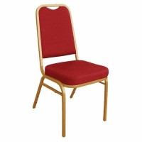 Banquet Chair Red / Gold