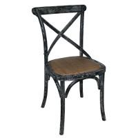 Cross Back Bistro Chair Black Wash