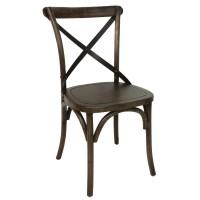 Cross Back Bistro Chair Walnut