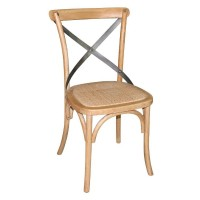Cross Back Bistro Chair Natural